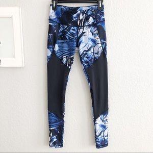 Calia By Carrie Underwood Blue Black Mesh Leggings